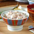 和食器・砥部焼 色絵模様の茶碗(小)