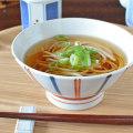和食器・砥部焼 ごす赤線の茶漬け碗