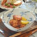 和食器・砥部焼 梅の角ボール(6寸)