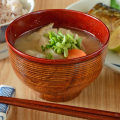 香川漆器の千筋汁碗(内後藤塗)