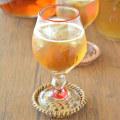 村上恭一・吹きガラス 赤巻のワイングラス