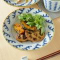 和食器・砥部焼 波模様のリム付皿(5寸)