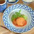 和食器・砥部焼 すずらんのリム付皿(6寸)