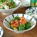 和食器・砥部焼 青線の広鉢(6寸)