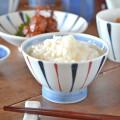 和食器・砥部焼 青赤線の茶碗(小)