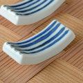 和食器・砥部焼 とくさ柄の箸置き