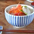 和食器・砥部焼 とくさ柄の丸碗