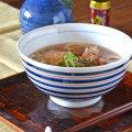 和食器・砥部焼 こまの反うどん鉢
