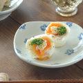 和食器・砥部焼 まるしかく取皿(花)