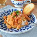 和食器・砥部焼 花市松の丸皿(7寸)