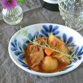 和食器・砥部焼 ブルーリーフのサラダボウル