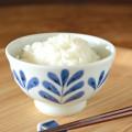 和食器・砥部焼 ブルーリーフの茶碗