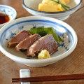 和食器・砥部焼 菊文の古砥部深皿(5寸)