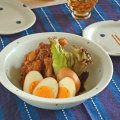和食器・砥部焼 プチプチ柄のリム付皿(7寸)