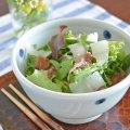 和食器・砥部焼 水玉もようの丼鉢(大)