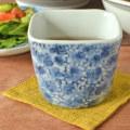 和食器・砥部焼 花唐草の角フリーカップ