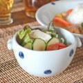 和食器・砥部焼 水玉もようの耳付スープカップ