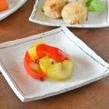 和食器・砥部焼 くねくねラインの角皿(5寸)