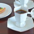 和食器・砥部焼 六角のコーヒーカップ&ソーサー