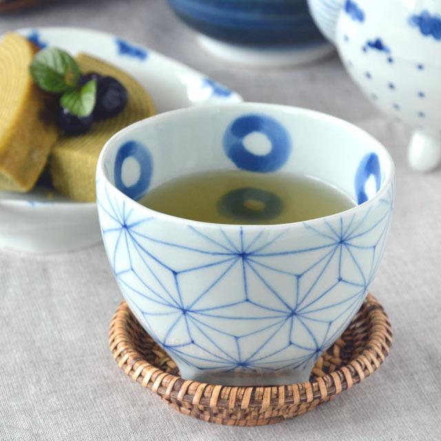 和食器・砥部焼 麻の葉のフリーカップ