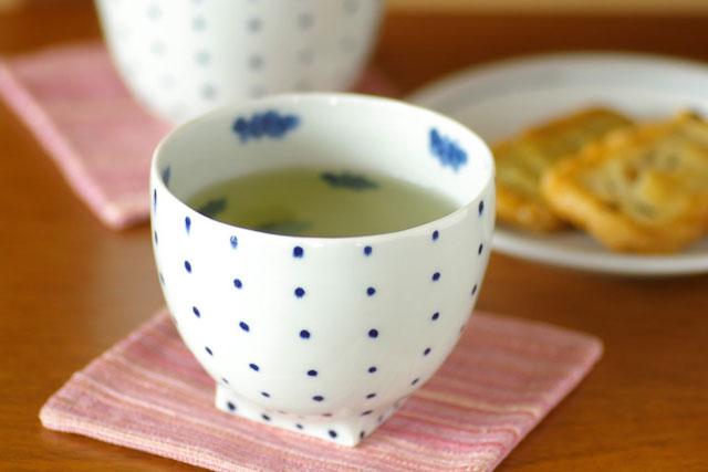 和食器・砥部焼 ドット柄のフリーカップ