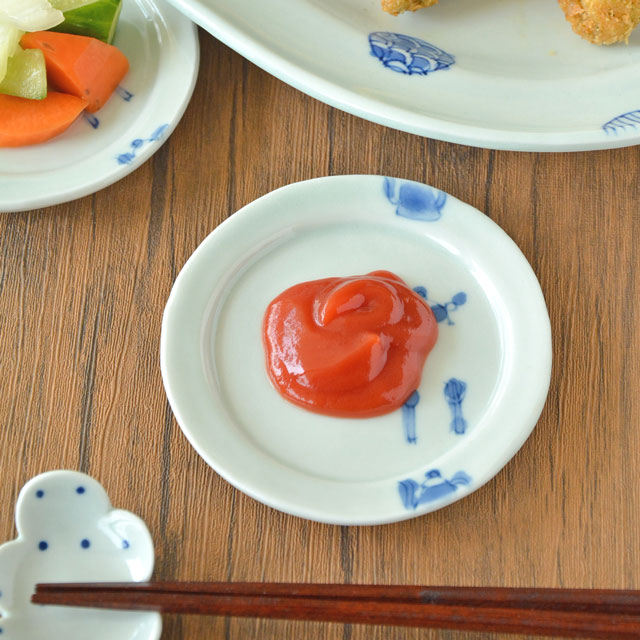 和食器・砥部焼 スギウラ工房のリム皿(ミニ)