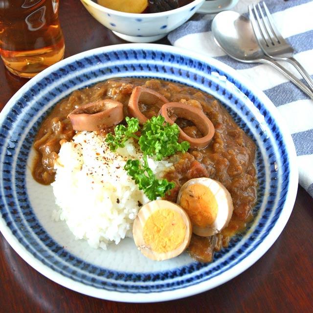 和食器・砥部焼 駒とびかんなの丸皿(7寸)