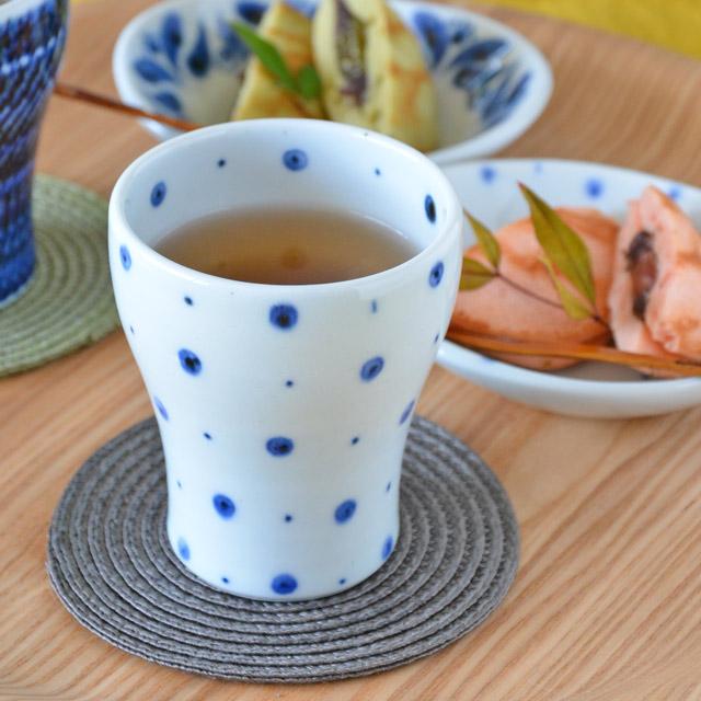 和食器・砥部焼 ブループラネットのフリーカップ