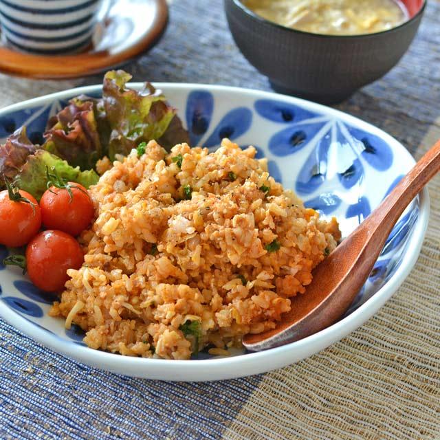 和食器・砥部焼 花市松のカレー鉢
