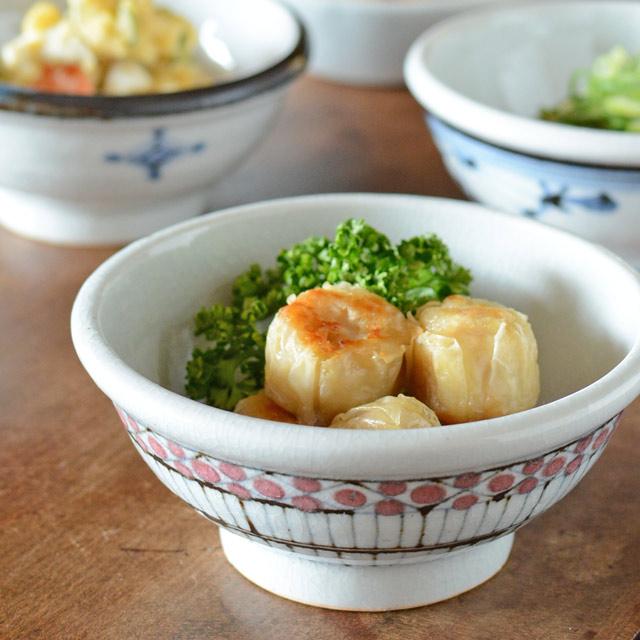 和食器・砥部焼 花垣文の古砥部玉ぶち鉢(4寸)