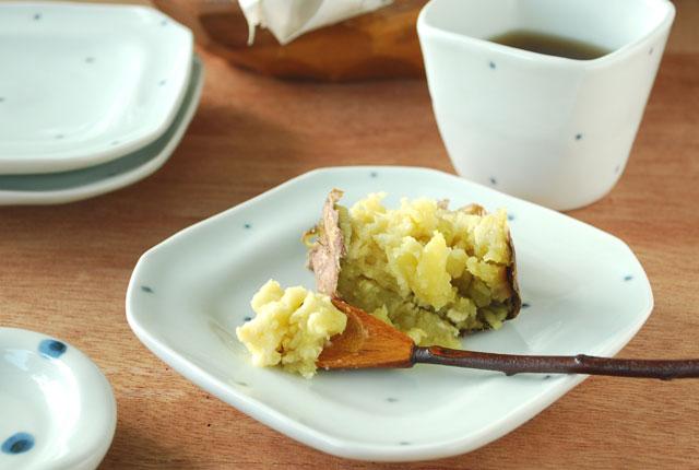 和食器・砥部焼 プチプチ柄の角皿