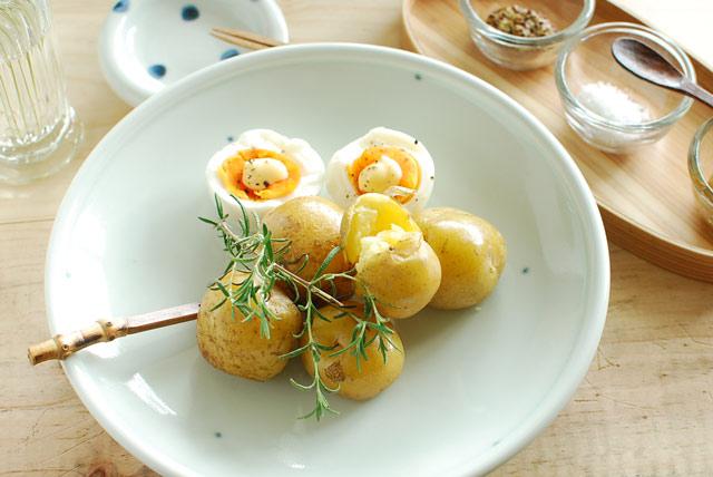 和食器・砥部焼 プチプチ柄の大皿(7寸)