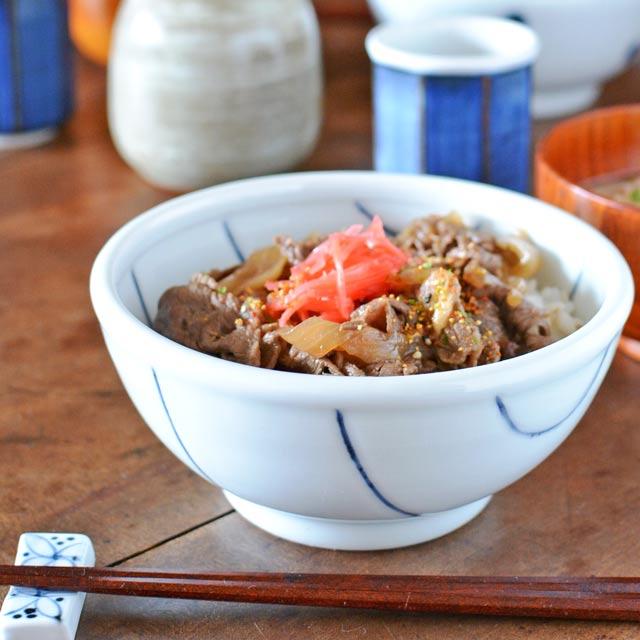 和食器・砥部焼 しましま柄の丼鉢(小)