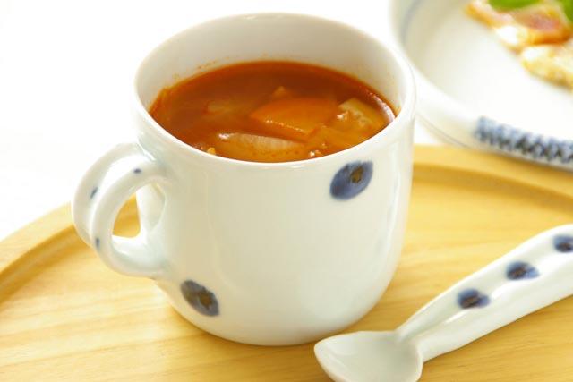 【砥部焼 梅乃瀬窯】水玉もようのマグカップ