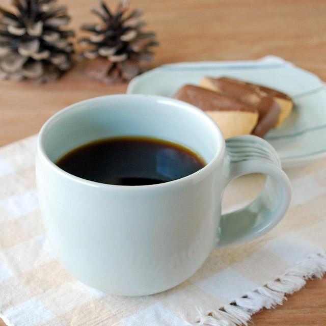 和食器・砥部焼 しましま取手のマグカップ