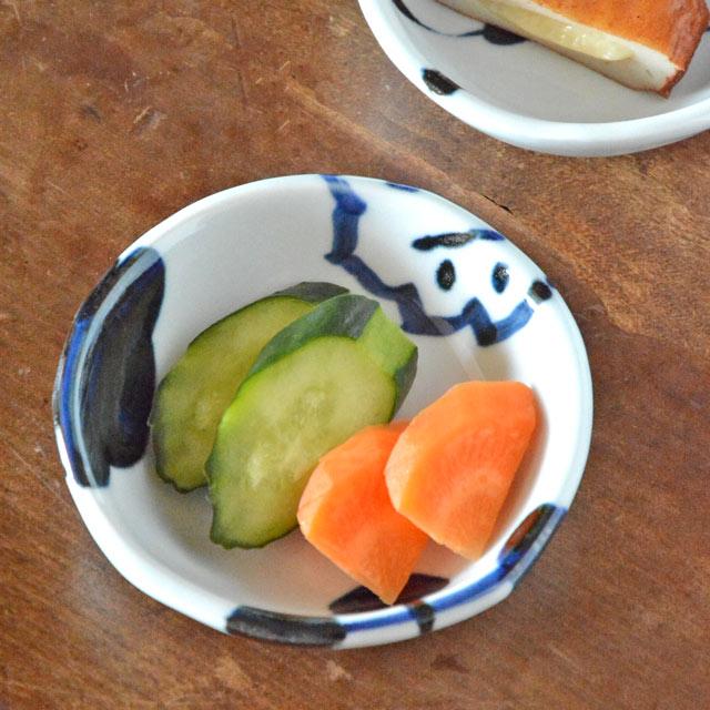 和食器・砥部焼 雲石窯の浅小鉢
