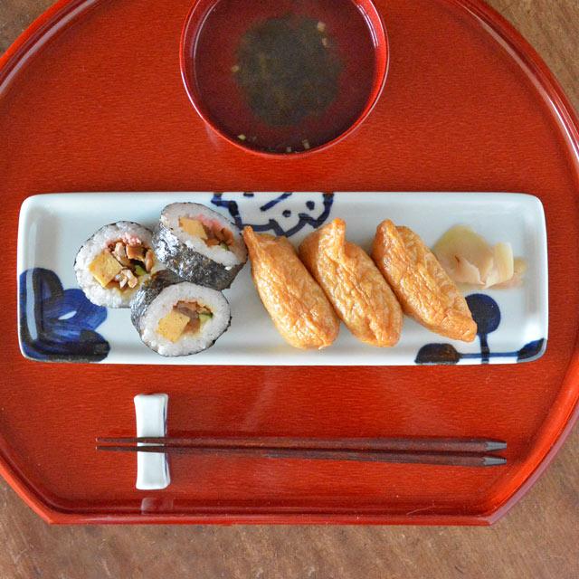 和食器・砥部焼 雲石窯の長方皿