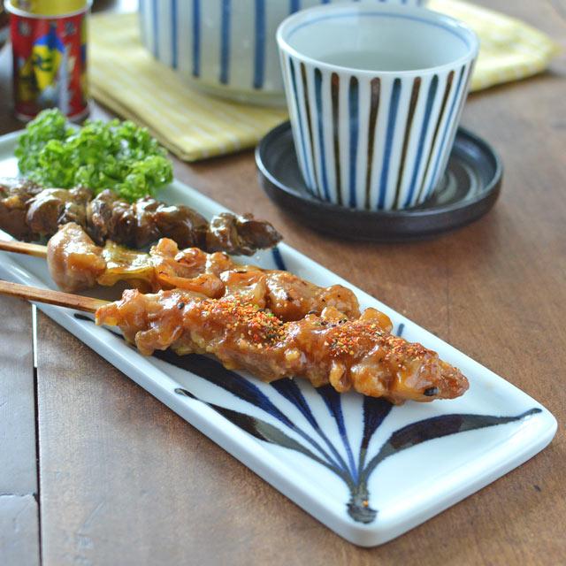 和食器・砥部焼 草文の長方皿