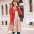 可憐に咲き誇る秘密の花園フラワーワンピース 小嶋陽菜さんはピンク着用