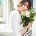 糖度75%サイドフリルボンディングプルオーバー 宮田聡子さんはオフホワイトを着用