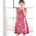 エレ可愛いくて褒められ3WAY揺れ裾フラワーワンピース 泉里香さんはピンク着用