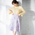クラシカルレディに変身♪パール付きフラワープリントフレアスカートtocco closet(トッコクローゼット) Collection 泉里香さんはラベンダー着用 《Flower & Lace Fair》