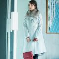 冬の「可愛い」を更新するファーティペット付きポケットりぼんAラインコートtocco closet(トッコクローゼット) Collection 美人百花11月号P144にて衛藤美彩さんはグレージュ着用 宇垣美里さんはグレージュ着用