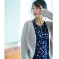 華ありデザインに視線を集めて。パールビジュー装飾ニットカーディガン tocco closet(トッコクローゼット) Collection宇垣美里さんはピンク着用