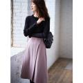 大人なフェミニンスタイルに。パール釦ラップスカートtocco closet(トッコクローゼット) Collection舞川あいくさんはピンク着用