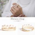 パールつき3連真鍮リング 【3brass-ring】 tocco closet (トッコクローゼット) Collection