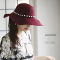 ぷっくりパールつきドラマティック女優ハット 【actress hat】 New at Tocco Closet(トッコクローゼット)カタログ  Ray10月号P157にて白石麻衣さんはブラック使用