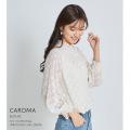 シャーリング×フリルデザインフラワードビーブラウス【caroma カローマ】tocco closet(トッコクローゼット) Collection