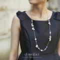 クリアフラワー×パールロングネックレス 【cf-necklace】 tocco closet (トッコクローゼット) Collection