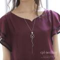 コットンパール×垂らしパーツロングチェーンネックレス 【cpl-necklace】 tocco closet (トッコクローゼット) Collection